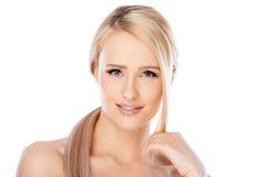 Beauty portrait of blond woman Stock Photo