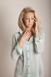 Beauty portrait of blonde beauty Stock Image