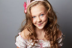 Beauty portrait of blonde girl Stock Images
