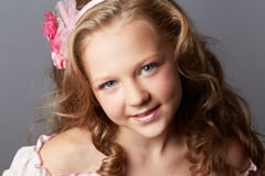 Beauty portrait of blonde girl Royalty Free Stock Image