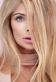 Beauty portrait of blonde natural woman. Stock Photography