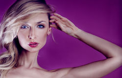 Beauty portrait of blonde sensual woman. Royalty Free Stock Photography