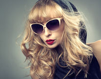 Beauty portrait of blonde woman. Royalty Free Stock Image