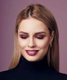 Beauty portrait of blonde woman Stock Photos