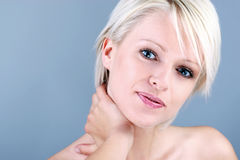 Beauty portrait of a blonde woman Stock Images