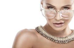 Beauty portrait of blonde woman. Stock Images