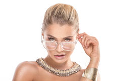 Beauty portrait of blonde woman. Stock Photography