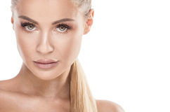 Beauty portrait of blonde woman. Royalty Free Stock Photos