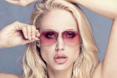 Beauty portrait of blonde young woman. Royalty Free Stock Image
