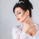 Beauty portrait of bride Stock Photos
