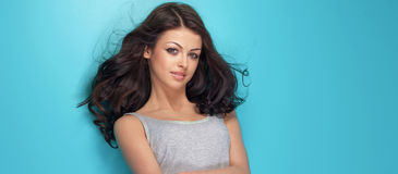 Beauty portrait of brunette beauty Stock Image