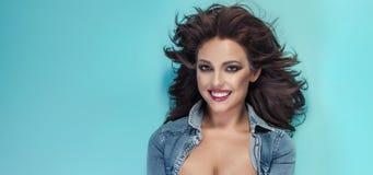 Beauty portrait of brunette woman Royalty Free Stock Photography