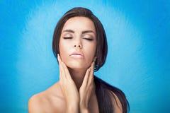 Beauty portrait of brunette woman. Royalty Free Stock Image
