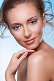 Beauty portrait of calm a woman Royalty Free Stock Photography