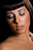 Beauty Portrait of Caucasian woman Stock Photos