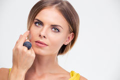 Beauty portrait of a charming female model Stock Photography