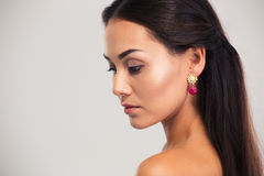 Beauty portrait of a charming woman looking away Royalty Free Stock Image