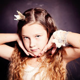 Beauty Portrait of Child Girl. Young teen Royalty Free Stock Photos