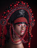 Beauty portrait closeup. Royalty Free Stock Images