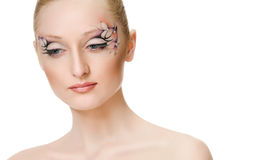 Beauty portrait. Creative makeup Royalty Free Stock Photo