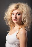 Beauty Portrait. Curly Hair. Beautiful woman Stock Image