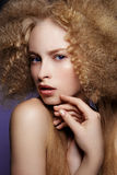 Beauty Portrait. Curly Hair Stock Images