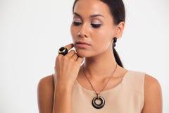 Beauty portrait of a cute fashion model Stock Image