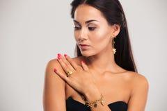 Beauty portrait of cute female model Stock Image