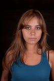 Beauty portrait with dark background Stock Photos