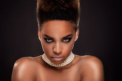 Beauty portrait of elegant african american woman. Stock Photo