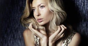 Beauty portrait of elegant lady. Stock Photo