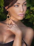 Beauty portrait of elegant lady. Royalty Free Stock Image