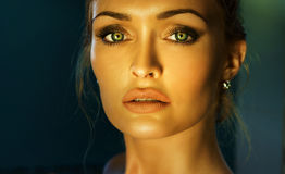 Beauty portrait of elegant woman. Royalty Free Stock Images