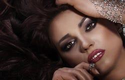 Beauty portrait of elegant woman. Royalty Free Stock Photography