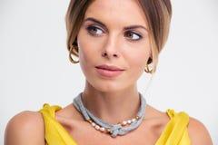 Beauty portrait of a fashion female model Royalty Free Stock Photo