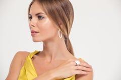 Beauty portrait of a fashion female model Stock Photography