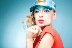 Beauty portrait of fashion lady. Stock Image