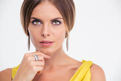 Beauty portrait of a fashion model Royalty Free Stock Images