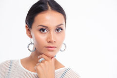 Beauty portrait of a fashion model looking at camera Royalty Free Stock Photos