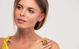 Beauty portrait of female model looking away Royalty Free Stock Photo