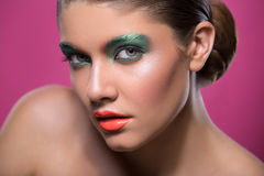 Beauty portrait of a girl with bright make-up Stock Photography