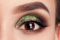 Beauty portrait girl model make-up green eyes Stock Photo