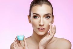 Skin care and beauty concept stock photography