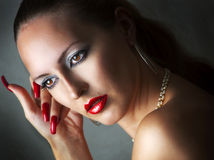Beauty portrait of glamour model woman Royalty Free Stock Image