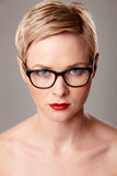 Beauty portrait in glasses Stock Image