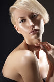 Beauty portrait of a gorgeous blonde Royalty Free Stock Photography