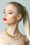Beauty portrait of gorgeous blonde woman Royalty Free Stock Images