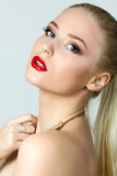 Beauty portrait of gorgeous blonde woman Stock Photography
