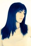 Beauty portrait of gorgeous brunette model retro vintage Royalty Free Stock Images