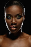 Beauty portrait of handsome african girl Royalty Free Stock Photo